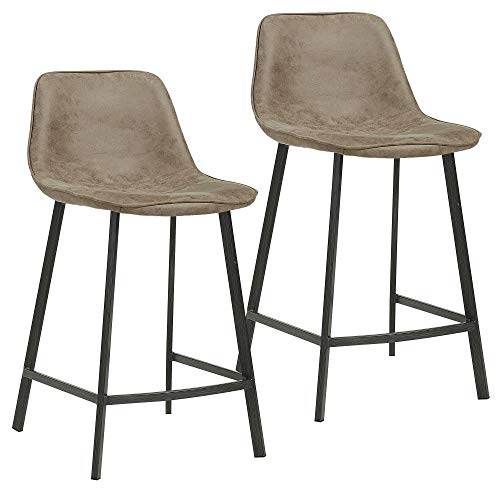 - MyChicHome Virgo (Set of 2) Contemporary, Suede Fabric Upholstered, 26