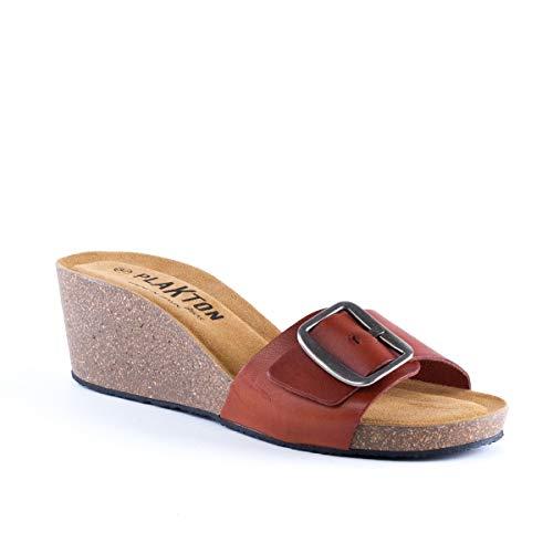 Plakton Plakton Donna Marrone Sabot Sabot sandali sandali fqafrPE