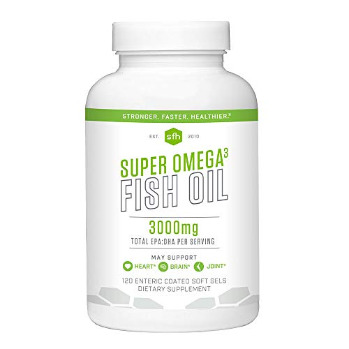 Super Omega 3 Fish Oil by SFH | Highly Concentrated 3500mg EPA & DHA | Best Tasting Liquid Fish Oil for Heart Health & Wellness | 100% All Natural Soy Free Gluten Free (Capsules, Capsules)