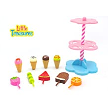 Little Treasures Sweet Treats store with 10 piece Desserts Ice Cream pretend and play cute playset toy