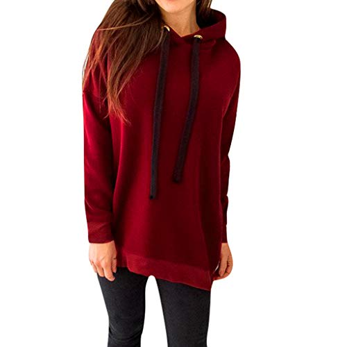Goddesslili Blouses for Women Fashion 2019, Solid Zipper Long Sleeve Hoodie Sweatshirt Hooded Pullover Tops Blouse for Girls College Student, Back to School Essentials