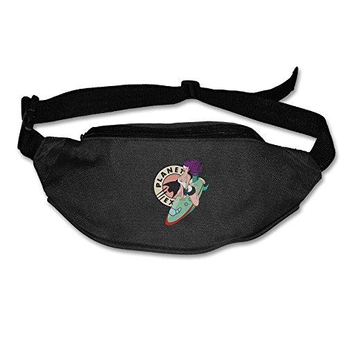 [Planet Express Pinup Leela Men Costume Oxford Cloth Polyester Waist Bag Adjustable Black] (Futurama Leela Costumes)