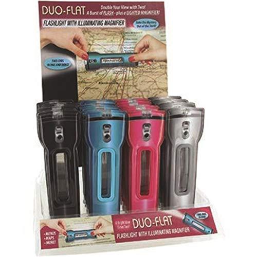 (DUO-FLAT Flashlight with Illuminating Magnifier)