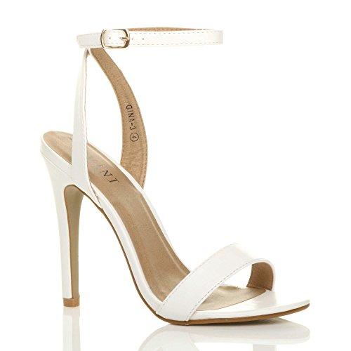Barely White Size There Sandals Ajvani High Women Shoes Matte Heel 8rI0S0wtxq