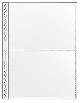 Veloflex - Funda transparente (2 compartimentos de A5 apaisado, 100 unidades, multitaladro)