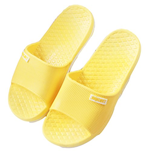 Blubi Womens Candy Color Open Toe Comfort Shower and Poolside Sandal Beach Sandal Yellow GF9sbr