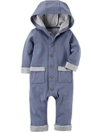 Carter's Baby Boys Hooded Babysoft Coveralls
