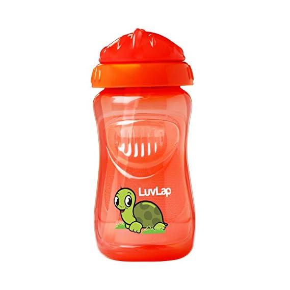 LuvLap Turtle Sipper, Green, 360ml