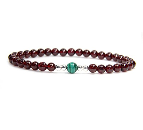 gemstone-55mm-aaaaa-grade-wine-red-garnet-with-6mm-malachite-925-sterling-silver-round-beads-bracele