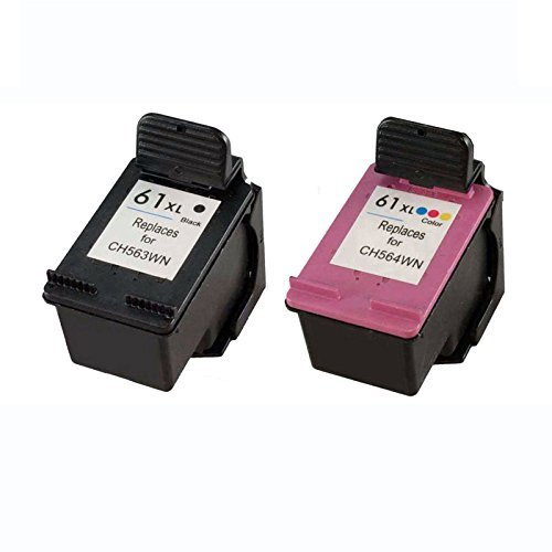 2 Pack Blk Ink - INKTONER 2pk BLK/COLOR CH563WN CH564WN Ink Cartridge for HP 61XL