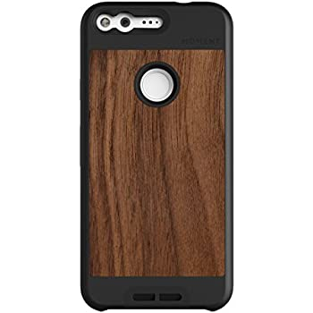 Google Pixel Case    Moment Photo Case in Walnut Wood - Thin, protective, wrist strap friendly case for camera lovers.