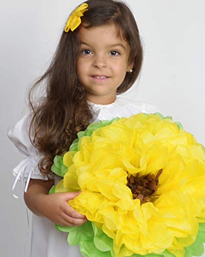 Birthday Party Decorations Paper Flowers Yellow Sunflower ! Pack of 8 Pieces Giant 15