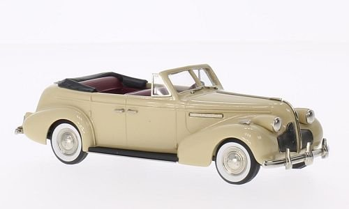 Buick Century Convertible Phaeton M61-C, beige, 1939, Model Car, Ready-made, Brooklin (Buick Convertible Cars)