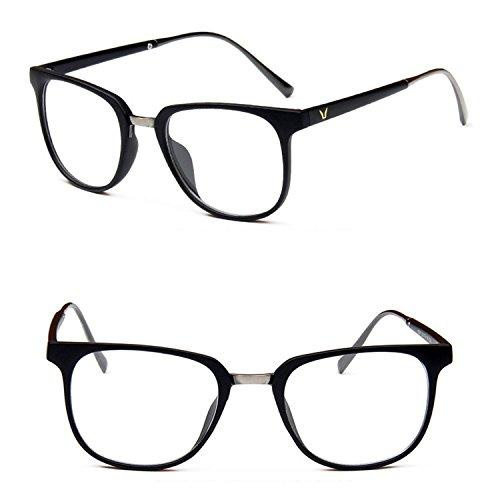Chezi Lightweight Two-toned Plastic Metal Wayfarer Eyeglasses Eyewear (matte black/ grey arms, - Eyeglasses Replacement Arms