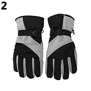 Sanwooden Practical Gloves Men Winter Warm Snow Motorcycle Snowmobile Snowboard Ski Anti-Slip Gloves Winter Essential Gloves