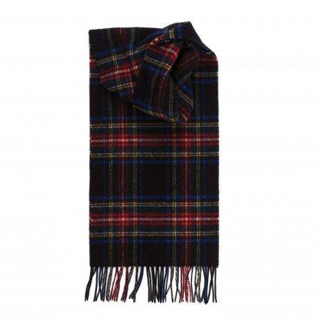 Johnstons of Elgin Pure Cashmere Scarves - Scottish Tartan (Black (Johnstons Cashmere)