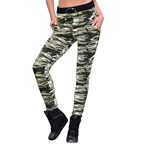 Redacel Printed Yoga Pants, Women Camouflage Digital Printing Sports Fitness Running Yoga Pants(S,Yellow)