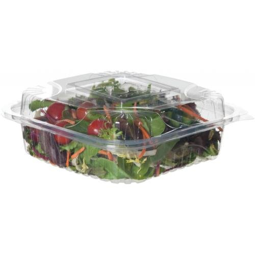 Eco-Products Renewable & Compostable Clear Clamshells - 8 inch - Case of 160 (EP-LC81)