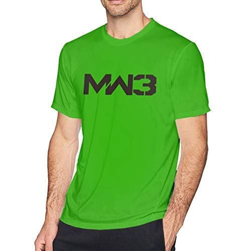 FipiAll Adult Men's Call of Duty Modern Warfare 3 Relaxed T-Shirt Short Sleeve Freestyle Tee Top Green