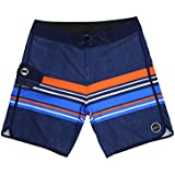 ISLAND DAZE BBO - Mens Boardshort Bottle Opener Surf, Swim Tailgate Quick Dry Swim Trunks Navy