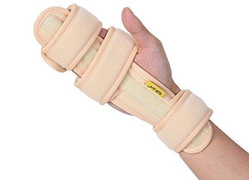 Wrist Fractures (Medical Pro Functional Resting Hand Splint Wristbands, OPER Wrist Support Brace Hand Finger Aluminum Splint Strap Fixator Carpal Tunnel Syndrome Fracture Arthritis Pain)