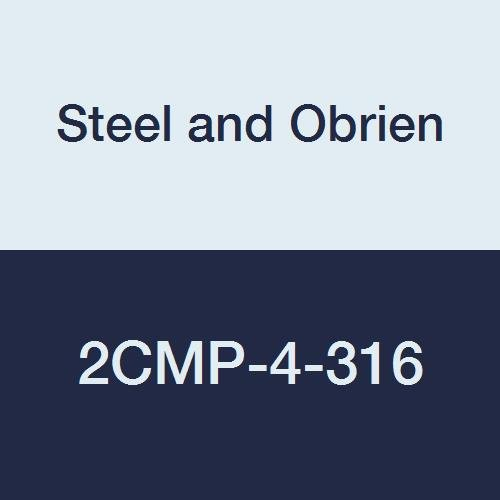 Steel and Obrien 2CMP-4-316 Stainless Steel Clamp, 90 degree Elbow, 4