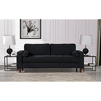 Amazon.com: Modern Soft Velvet Sofa with Nailhead Trim ...