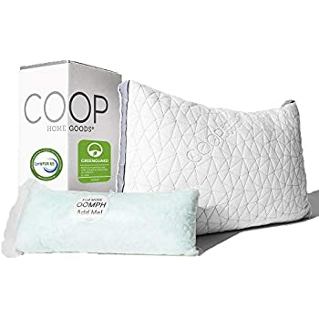 Coop Home Goods - Eden Adjustable Pillow - Hypoallergenic Shredded Memory  Foam with Cooling Gel - Lulltra Washable Cover from Bamboo Derived Rayon -  ...