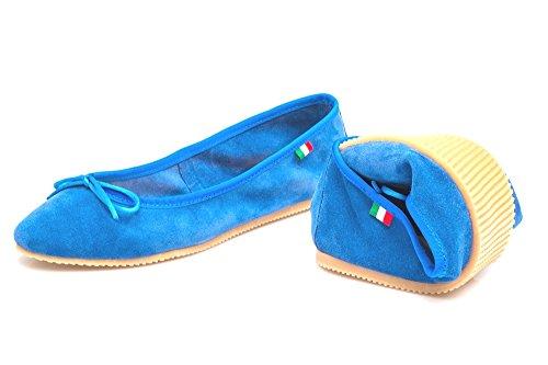 para Azul Piel Shoes Jeans Jeans Bailarinas mujer Silfer de qZCvUw