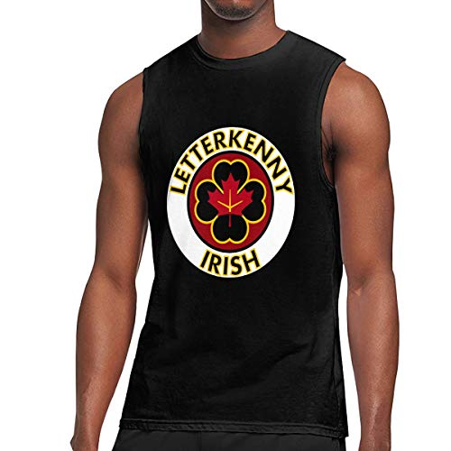 ZETANKK Letterkenny Irish Shoresy Men's Tank Top Sleeveless T-Shirt Tee Bodybuilding Shirt Black