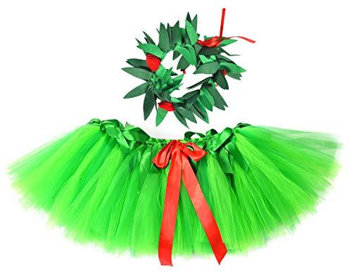 Hawaiian Hula Tutu Skirt for Baby Girls Halloween