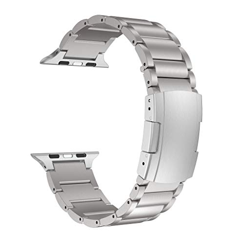 Titanium Alloy Quick Release Band WristStrap Replacement Bracelet for Apple Watch Series 4 3 2 1 44mm 42mm ()