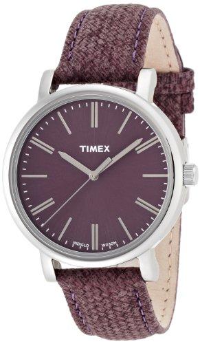 Timex Originals T2P172 Ladies Burgundy Classic Round Watch