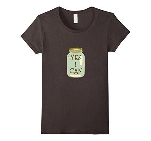 (Womens Yes I Can Canning Season Tshirt for Garden Farmers XL Asphalt)