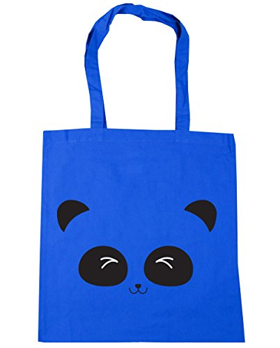 cute Gym face HippoWarehouse 42cm Blue panda Cornflower Beach litres Shopping 10 Bag x38cm Tote qdAAwFX