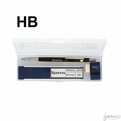 Rosetta Da Vinci 2 mm Black Mechanical Pencil w/HB Leads, Sh