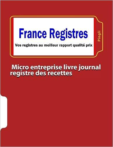 Amazon Fr Micro Entreprise Livre Journal Registre Des