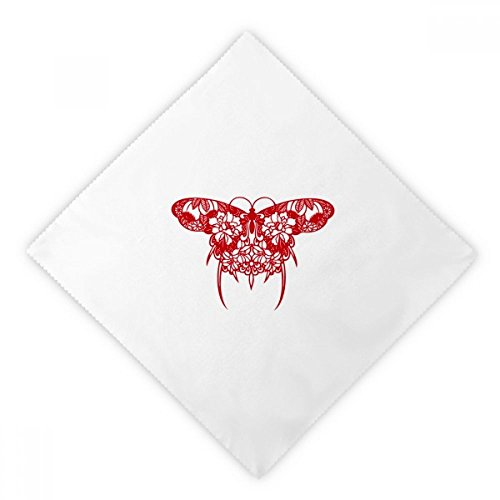 Kite Clothing Butterfly (DIYthinker Chinese Kite Butterfly in Red Dinner Napkins Lunch White Reusable Cloth 2pcs)
