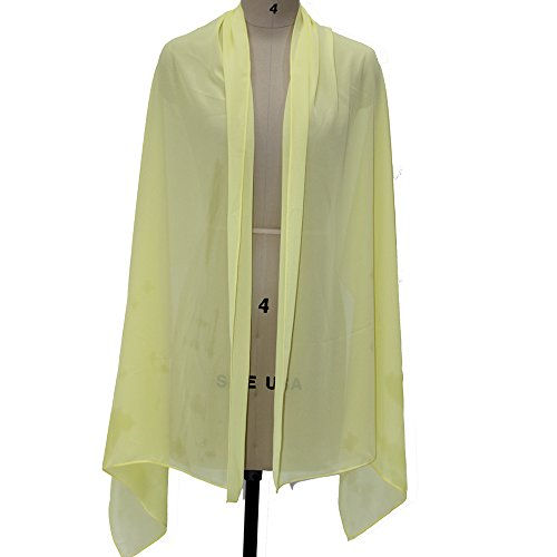 Chiffon Daffodil - Lanbaodress Wedding Jacket Wraps Bolero Chiffon Women Cap Wrap Shrug For Evening Dresses Daffodil
