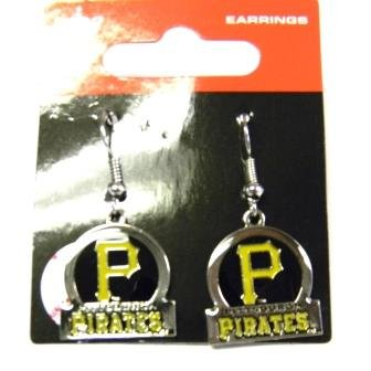 Pittsburgh Pirates Dangle Earrings - Bar Style