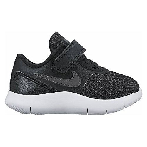 NIKE TODDLER NIKE FLEX CONTACT (TDV) BLACK DRK GRY ANTHRACITE WHITE SIZE 10 (Nike Kids Shoes Size 10)