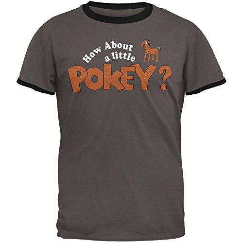 Gumby - How About A Little Pokey Ringer T-Shirt - (Gumby And Pokey Tshirt)