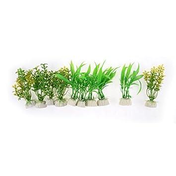 Plantas DealMux acuario de plástico bajo el agua de bambú flor de la hierba Ornamento 10 piezas: Amazon.es: Productos para mascotas
