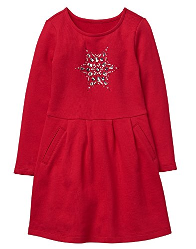 Gymboree Little Girls Snowflake Dress  Red  7