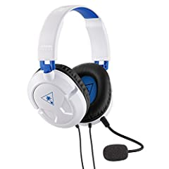 Take gaming audio and comfort on PS4 to the next level with the Turtle Beach Recon 50P White gaming headset. The Recon 50P features Turtle Beach's latest lightweight and comfortable design, with large 40mm over-ear (closed) speakers that let ...
