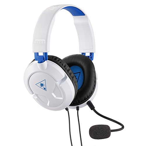 Turtle Beach Ear Force Recon 50P White Stereo Gaming Headset - PS4 and Xbox One (compatible w/ Xbox One controller w/ 3.5mm headset jack) - PlayStation 4
