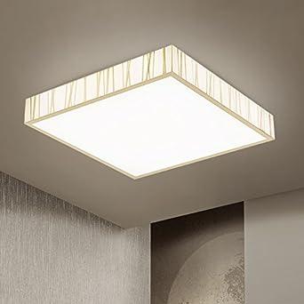 Cttsb Deckenleuchte Led Schlafzimmer Helle Und Moderne Fernbedienung  Wohnzimmer Beleuchtung Rechteckige Atmosphäre Beleuchtung Halle Leuchten  Leselampe