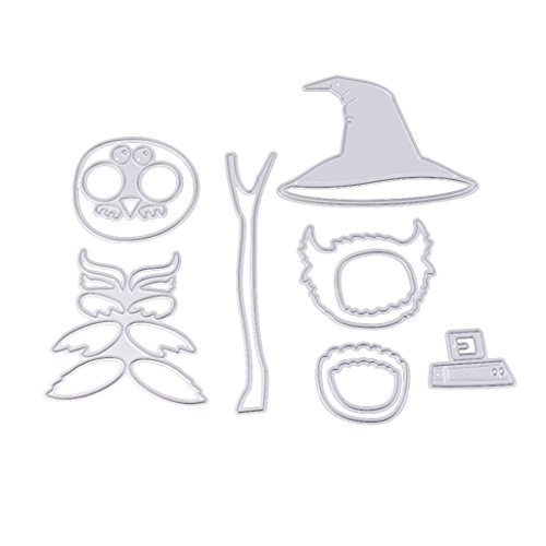 ForHe DIY Happy Halloween Series Cutting Dies Embossing Scrapbooking Paper Card Crafts Stencils (Owl)]()