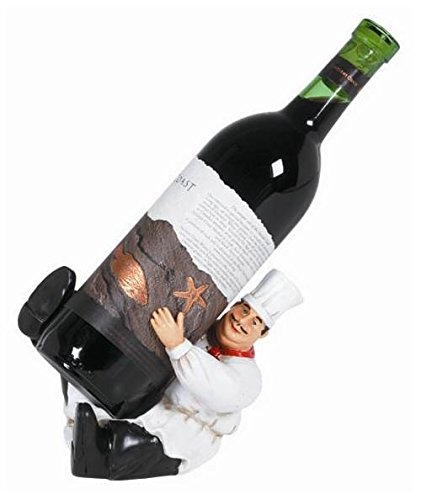 5 Inch H Wine Bottle Holder with Tipping Waiter (Ram Decanter)