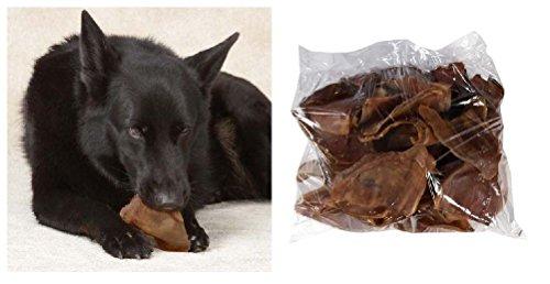 Pig Ears Dog Treat Bulk Packs 100% All Natural Smoked Pork Savory Tasty Chews by Defonia Petsupplies